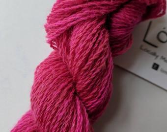 "Handspun Wool Blended Yarn: ""The Valentine"""