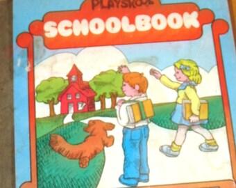 Vintage 1975 Playskool Schoolbook Playset