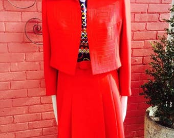 Vintage 69s red suit