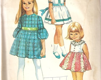 VINTAGE Simplicity Sewing Pattern 8714 - Children's Clothes - Girl's Dress, Size 7