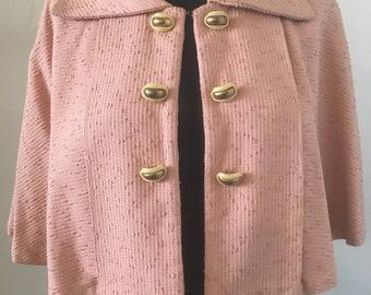 1950's Pink Brocade Capelet