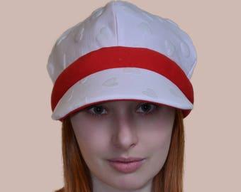 Love Hearts Valentine's Day Cute Kawaii Cotton Visor Hat double-sided Adult Teen Kid