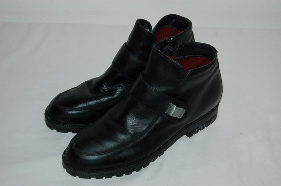 Black Women Shoes Ankle 80s Bean 6 1 Vintage Boots 2 L L Size aawTq8rv