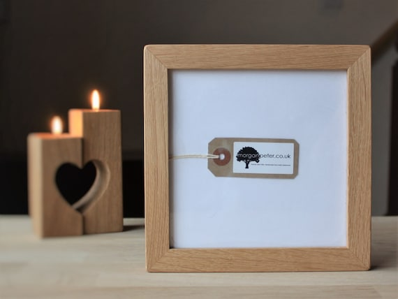 6x6 Wooden photo frames - 6 x 6 - square oak picture frames from ...