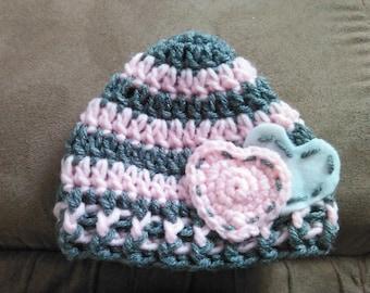 Infant Heart Hat