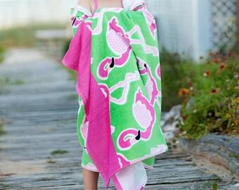 Monogrammed Flamingo Beach Towel, Personalized Beach Towel, Pink Beach Towel, Beach Blacket, Pool Towel, Beach Towel