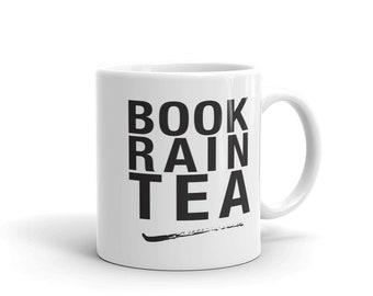 Reader Mug - Book Rain Tea - Book Club - Book Lovers Gift -  Bookish Gift - Bookworm - Booknerd - Gift for Introvert