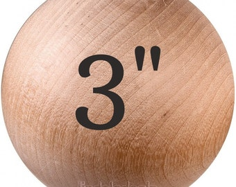 """3"""" WOOD BALLS Unfinished Maple Hardwood Made In USA / 5 Ball Lot / 7.00 Each Ball"""