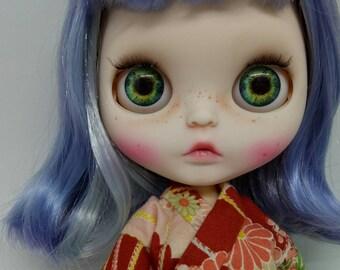 Custom Blythe Doll OOAK Blue Hair