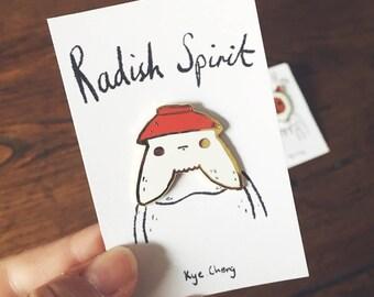 Radish Spirit Pin