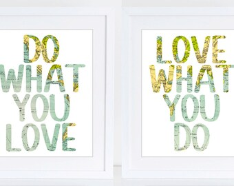 Do what you love print, Quote, Life quote, Travel, World map, Teenager, Digital art, Printable art, Digital poster Instant Download 8x10