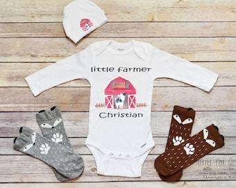 Farm Birthday, Farm Birthday Shirt, Barn Onesie®, Farm Gift, Farm Animal Onesie®, Goat Onesie®, Farm Shirt, Farm Onesie®, Farm Animals