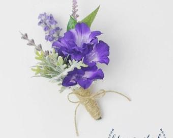 Corsage, Rustic Corsage, Lavender Corsage, Purple Corsage, Pin On Corsage, Wrist Corsage, Wedding Corsage, Rustic Wedding, Prom Corsage