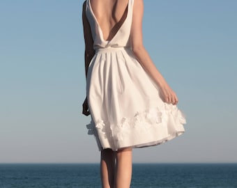 Wedding top, silk, open back, bridal separates top, boho wedding dress, wedding dress top, modern wedding dress, beach wedding - Carline Top