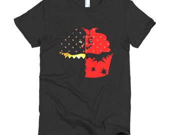 Connie & Blyde (Crimson Capo) Black Short sleeve women's t-shirt