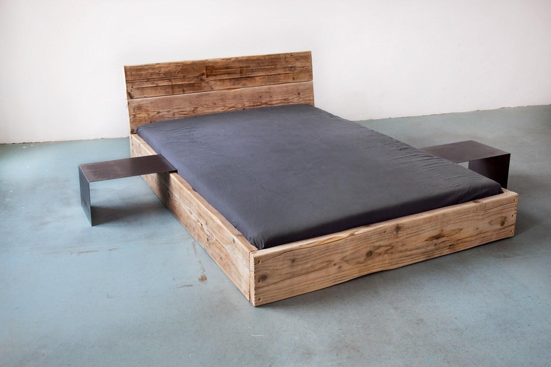 upcycle design bett model low aus bauholz massivholz. Black Bedroom Furniture Sets. Home Design Ideas