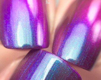 NEW-Majesty-Mega Multichrome -Multi-Color Shifting Polish:  Custom-Blended Glitter Nail Polish / Indie Lacquer / Polish Me Silly