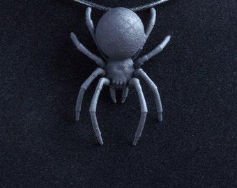 Pendant to order. Black Widow pendant. Gothic jewellery, necklace pendant black widow spider