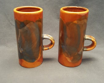 Set of 2 Vintage Caffe D-Vito Espresso Mugs Made in Taiwan 1970s