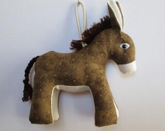 Fabric Donkey keychain, ornament, accessory