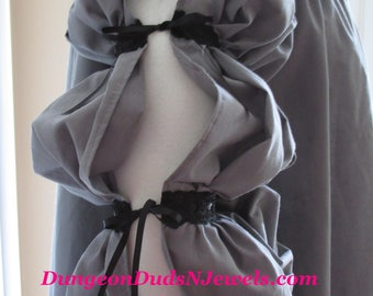 DDNJ Choose Color Renaissance 3 tier Side Lace Chemise Plus Custom Made to Your Measurements Pirate Medieval Wench Nightgown Victorian