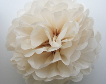 CHAMPAGNE tissue paper pom pom - Large/medium/small size - handmade - lots of colours to choose from