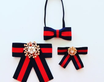 Brooches and bow ties