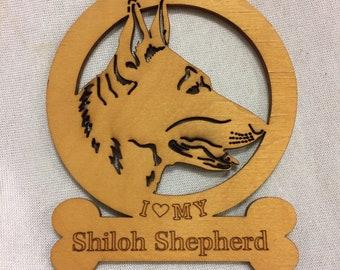 Shiloh Shepherd Dog Ornament