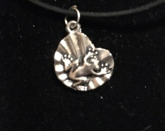 Frog on a Lillypad Pendant