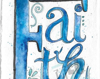 Watercolor Word Series – FAITH