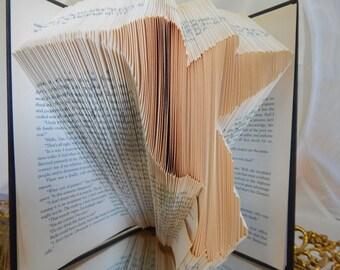 Beautiful Hummingbird Folded Book Art