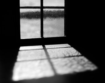 Akershus Window, original fine art photography, print, oslo, norway, fortress, black and white, old, monochrome, vintage, art, shadow, dark