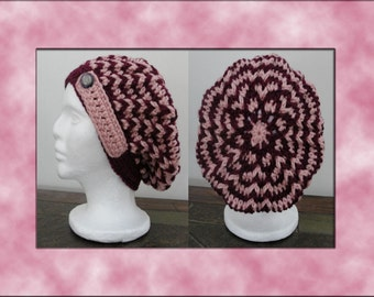 Marie Cabled Slouch Crochet Pattern - INSTANT DOWNLOAD