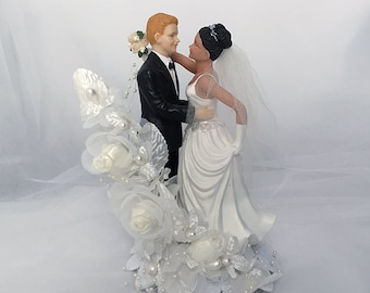 Bride and Groom Wedding Cake Topper-Traditional wedding cake topper- Romantic Wedding Cake Topper- Wedding Cake Topper- Wedding keepsake