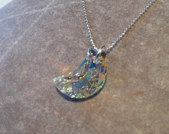 Lupe - sterling silver necklace with swarovski moon crystal