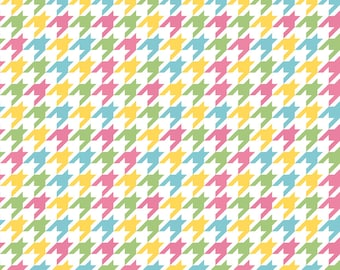 Houndstooth Fabric - Riley Blake Houndstooth - Multi Color Houndstooth Fabric - Quilting Fabric - Nursery Fabric - Baby Girl Nursery