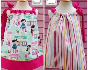 Vestido Pillowcase 1 a 6 años : Patrón PDF, Patrón Vestido Niña, Vestido Verano Niña, Patrón pillowcase, Vestido Niña, Pillowcase