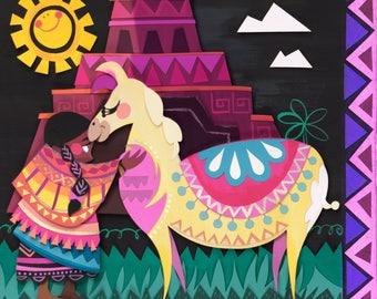 It's a Tiny Little World - Peru Print