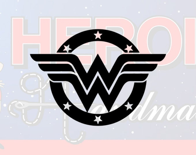 "4""+ Wonder Woman Classic Adhesive Vinyl Decal"