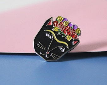 Frida Catlo Cat Enamel Pin