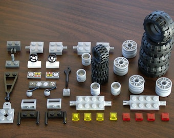 NEW LEGO Large Off Road Mud Tires Lot: 2 sets of Tire/Wheels Plus Great Specialty Parts