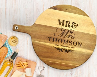 Personalised Acacia Wooden Chopping Board: Small, Medium or Large