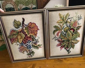 Two cross stitch art pieces
