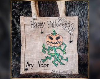 Littlebitofcrystal hand made pumpkin halloween bag 20x20x13cm