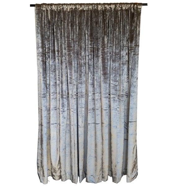 silver 96 inch h velvet curtain long panels custom home. Black Bedroom Furniture Sets. Home Design Ideas