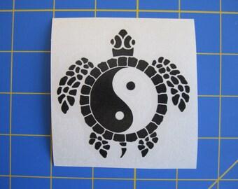 Yin Yang Sea Turtle Decal/Sticker 5x5