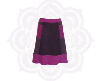 Organic Skirts - Ready to Ship in Size Small - Organic Cotton and Hemp terry (fleece weight) 2 Pockets Hemp Skirt -  Hand Dyed Skirt