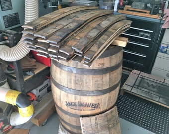 Whiskey Barrel Staves From a Used Jack Daniels Oak Whiskey Barrel