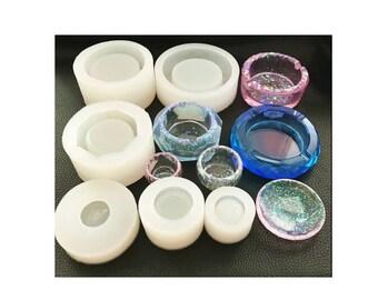 miniature plate mold, www.bjscraftandjewelry.com , miniature bowl,resin mold,mould,mold,uv, ashtray mold