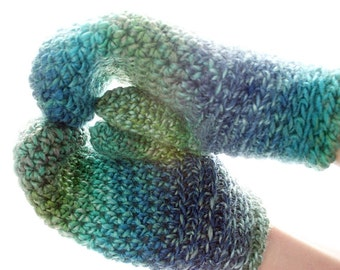 Sea Ice Cowl & Mittens Crochet Patterns, Women/Scarf/Gloves